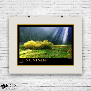 Contentment Spiritual Motivational Poster