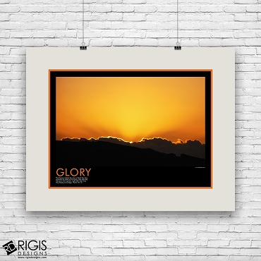 Glory Spiritual Motivational Poster