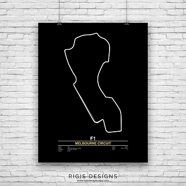 Melbourne Grand Prix Circuit Print