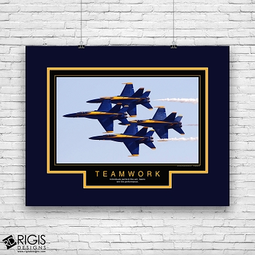 Teamwork Blue Angels Motivational Poster
