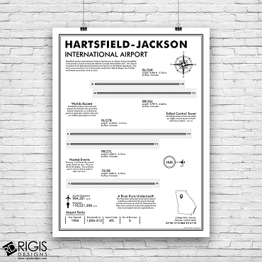 ATL: Hartsfield Jackson Atlanta International Airport Print