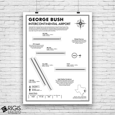 IAH: George Bush Intercontinental Airport Print