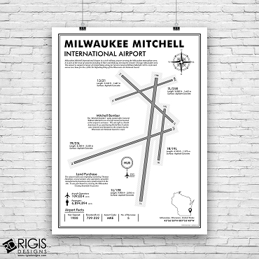 MKE: Milwaukee Mitchell International Airport Print