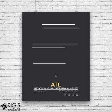 Hartsfield–Jackson Atlanta International Airport (ATL) Print