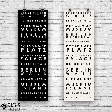 Berlin Germany Travel Poster