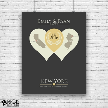 Date We Met Personalized Long Distance Relationship Print