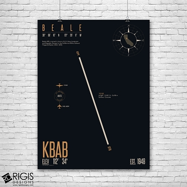 Beale Air Force Base (KBAB) Print