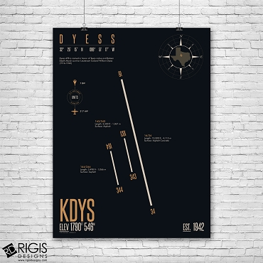 Dyess Air Force Base (KDYS) Print