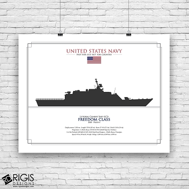 US Navy Ship Silhouette Freedom Class Littoral Combat Ship LCS