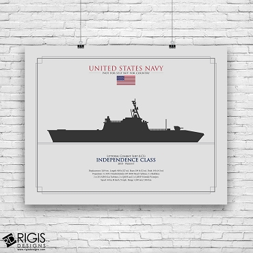 US Navy Ship Silhouette Independence Class Littoral Combat Ship LCS
